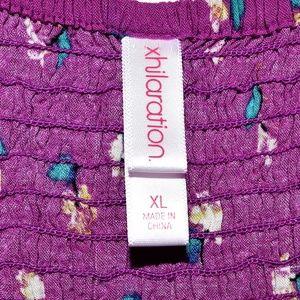 Xhilaration Dresses - Xhilaration Purple Zip Front Floral Dress XL